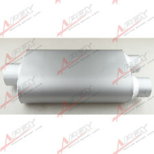 "3"" / Dual 2.5"" Performance Race Exhauset Oval Muffler Silencer"