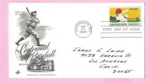 USA 1969 Art Craft FDC - CENTENNIAL OF BASEBALL - CINCINNATI & FDI Slogan
