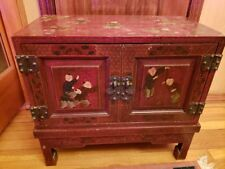 Oriental Furniture Nightstand Vintage Japanese Antique Style