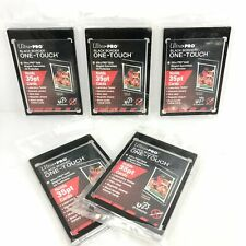 5-Pack Ultra Pro Black Border One Touch Magnetic Trading Card Holder 35pt Size