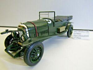 IXO 1:43 Scale Die-cast 1927 Bentley 3 Litre Le Mans Davis / Benjafield 1st Pos.