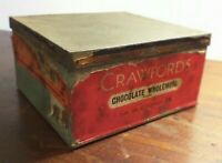 Collectable Vintage c1950's Crawfords Chocolate Wholemeal Biscuit Tin