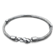 Pugster classic silver tone snake chain lobster clasp - 19 or 22 cm - NIB