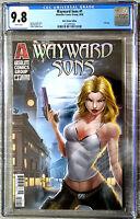 Wayward Sons #1 White Widow Foil Logo Variant CGC 9.8 Absolute Comics 2020