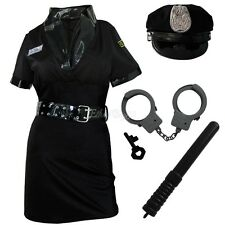 Women Police Cop Halloween Costume Fancy Dress Sexy Outfit Woman Officer Uniform