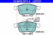 Ceramic Bremsbelagsatz, Scheibenbremse Vorderachse ATE 13.0470-7211.2