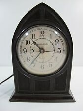 Vintage 1930s Hammond Cathedral Spin to Start Electric Alarm Clock w/ Cord WORKS