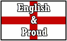 ENGLAND FLAG (ENGLISH & PROUD) - SOUVENIR NOVELTY FRIDGE MAGNET - NEW - GIFT