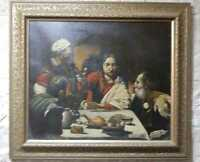 Copy of caravaggio paintings supper at emmaus supper handpainted oil paint 1602