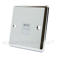 Polished Mirror Chrome Classical Telephone Socket Master Phone Outlet CPCTELMW