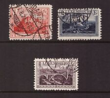 Luxembourg 1921 Landscapes set used stamps