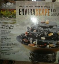 HoMedics Envirascape Rock Garden Tabletop Relaxation Fountain.- USED