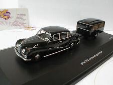 Schuco 02045 # BMW 502 mit Bestattungsanhänger # Leichenwagen in schwarz 1:43 !!