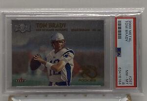 2000 Metal #267 Tom Brady PSA 8 ROOKIE