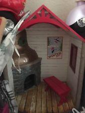 AMERICAN GIRL RETIRED WINTER CHALET NIB Beautiful Fireplace Cabin for Dolls