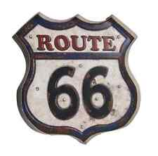 NWT! LED Light Up (AA Battery) ROUTE 66 METAL 3-D SIGN On/Off Switch GREAT ITEM!