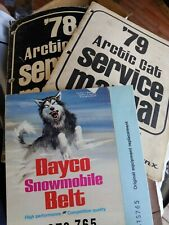 1978-79 ARCTIC CAT SNOWMOBILE service manual panther jag cheetah lynx dayco belt