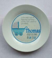 New Baby Boy Carriage Personalised Birth Christening Plate Keepsake Gift