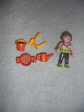 Playmobil Lot 5612 Playground Geobra 1995 Garden Girl Sand Pail Shovel 6 Pot