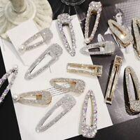 Fashion Metal Crystal Hair Clip Hairband Bobby Pin Barrette Hairpin Headdress