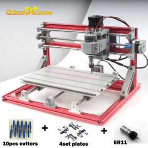 CNC 3018 DIY CNC & Laser Engraving Router Carving PCB Milling Cutting Machine US