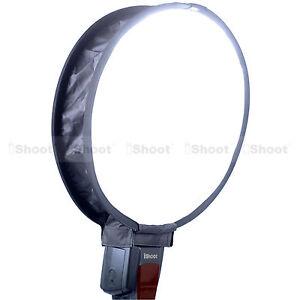 Easy-fold Round Mini Flash Softbox Diffuser Reflector for Nikon Canon Speedlight
