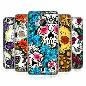 HEAD CASE DESIGNS FLORID OF SKULLS SOFT GEL CASE & WALLPAPER FOR HTC PHONES 2