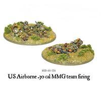 US Airborne 30cal teams MMG team firing