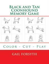 Black And Tan Coonhound Memory Game: Color - Cut - Play