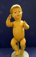 "SCHOENHUT NATURE BABY DOLL - WOOD - 15"" - Mohair wig - 1913 - Orig. Condition"