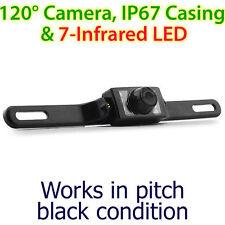 Placa de licencia Infrarrojo CCD impermeable coche que invierte la cámara de estacionamiento trasero et