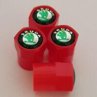SKODA Red Plastic Valve Dust caps all models more colors  OCTAVIA FABIA SUPERB