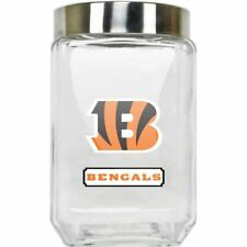 Cincinnati Bengals Jar Glass Canister Large Container With Lid Duckhouse NFL
