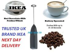 MILK FROTHER Coffee Latte Hot Chocolate Whisk Frothy Blend Whisker Black IKEA UK