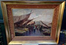 Gorgeous, Oscar RICCIARDI (1864-1935) Italian painter - Oil on cardboard - Marke