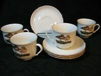 Germany Seltmann Weiden Bavaria Mallard Duck 4 Cups and Saucers