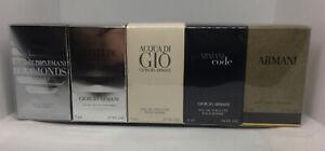Giorgio Armani Variety 5 Pc Mens Set-Armani Code+Diamonds+Acqua Di Gio+Attitude