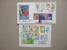 Two registered-express covers with FLOWER stamps:SWA fdc,Romania postal statione
