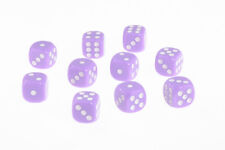 Dice Opaque Set of 10 Lilac D6 Dice 16mm