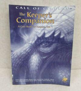 Call of Cthulhu RPG Keeper's Companion SC (Chaosium 2000 1st printing)