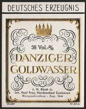 Etikett für Danziger Goldwasser - liqueur étiquette - label  # 1191