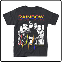 OFFICIAL LICENSED - RAINBOW - DIFFICULT TO CURE T SHIRT ROCK BLACKMORE DIO