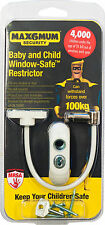 Max6mum Window Door Restrictors Safety and Security LOCKS - 2 PACK D30