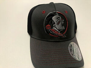 Florida State Seminoles Cap Zephyr Stretch Fit Fitted Black Ultra Hat NCAA