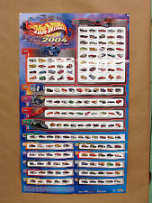 HW 2004 POSTER w Treasure Hunts First Editions & More on it - Hot Wheels