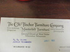 Movie letterhead C.W. Fischer Furniture Company Masterbilt Furniture 6/1/1920