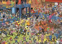 Jan van Haasteren Puzzle 1000 Piece JVH Cartoon Jigsaw  Roller Disco Jumbo Skate