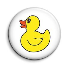Cute Rubber Duck Illustration 38mm/1.5 inch Funny Novelty Button Pin Badge