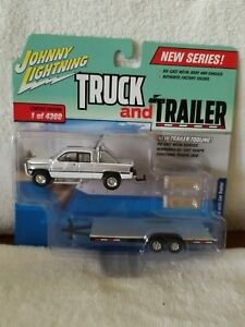 Johnny Lightning Truck And Trailer 1996 Dodge Ram