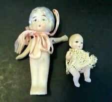 2 Antique Bisque Dolls Small & Tiny Japan & Germany Estate Sale Pair So Nice